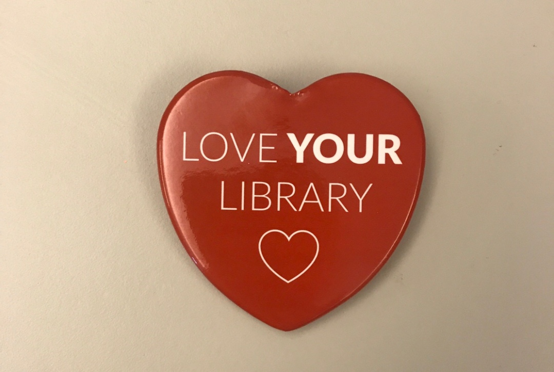 Love Your Library button